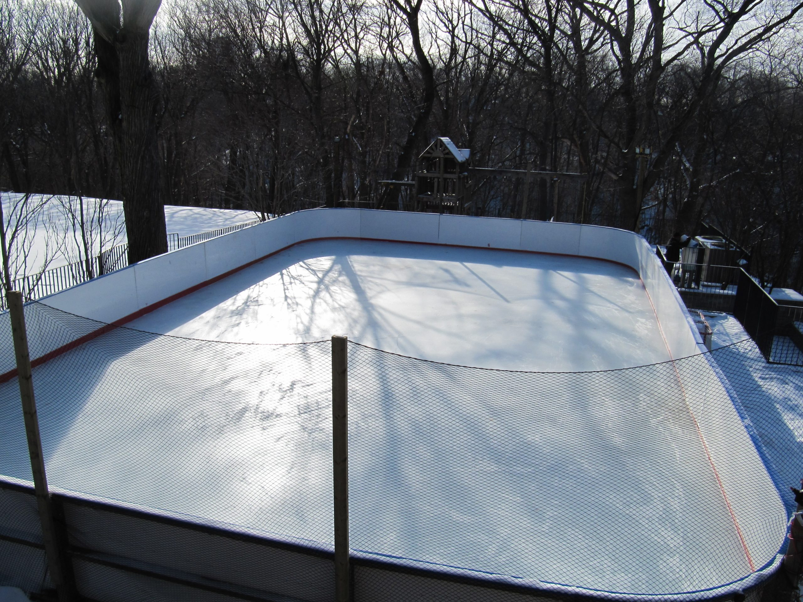 Pool to rink refrigerated rink