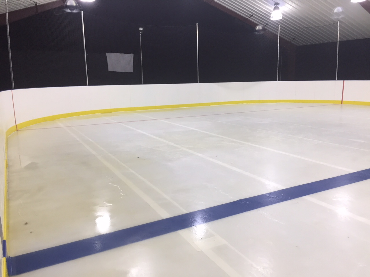 Permanent refrigerated rink